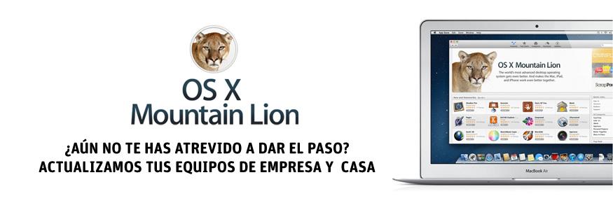 Actualizamos tus equipos a OSX Mountain Lion